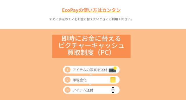 EcoPayで手に入る金額